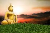 De grote boeddha in thailand tempel. — Stockfoto