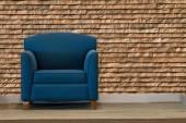 Nice and luxury leather sofa — Stock Photo