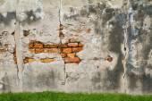 Moldy brick wall background — Foto Stock