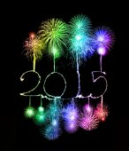 Happy New Year - 2015 made a sparkler — Foto de Stock