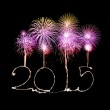 Happy New Year - 2015 made a sparkler — Stock Photo #56602247
