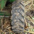 Large rear rubber tractor tire — Stock Photo #56703991