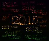 Happy New Year - 2015 sparkler — Stock Photo