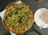 Pizza Japanese style — Stock Photo