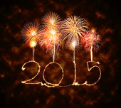 Happy New Year - 2015 sparkler — Stock Photo