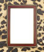 Marco de madera de textura de leopardo — Foto de Stock