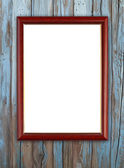 Wood frame on wood wall  — Stock Photo