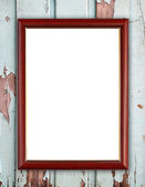 Wood frame on wood wall  — Foto Stock