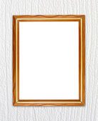 Blank wood frame on wood wall — Stock Photo