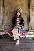 Traditionally dressed Mhong hill tribe woman  — Foto de Stock