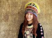 Traditionally dressed Mhong hill tribe woman  — 图库照片
