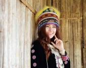 Traditionally dressed Mhong hill tribe woman  — Stock Photo