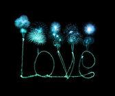 Любовный алфавит света фейерверка бриллианта — Стоковое фото