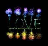 Love sparkler firework light alphabet  — Photo