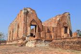 Wat Khudeedao, the ruin of a Buddhist temple in the Ayutthaya hi — Foto Stock