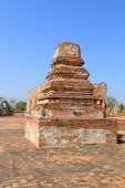 Wat Khudeedao, the ruin of a Buddhist temple in the Ayutthaya h — Stock Photo