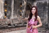 Female in Thai traditional dress  — Stockfoto