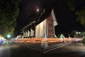 Luce ondeggiante rito in Sala Loi tempio chiese — Foto Stock