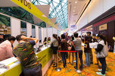 BANGKOK,THAILAND-October 3,2015:Thailand Mobile Expo 2015 Showcase The largest Event on 1-4 Oct 2015 Interesting and Attending The Event are Numerous at The Queen Sirikit National Convention Center. — Stockfoto