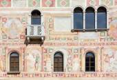 Frescoes on the Exterior Wall of the Castle of Spilimbergo — Stock Photo