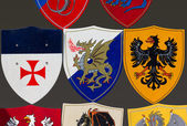 Collection of Coats of Arms — Stock Photo