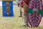 Painted Shields Carried by Gladiators — Foto de Stock
