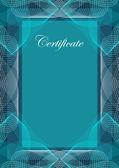 Certificate, vector background — Stock Vector