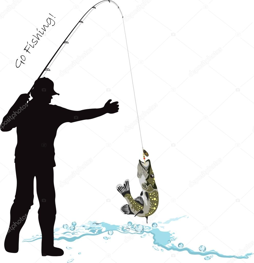рисунки на машине рыбак ловит рыбу