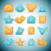 Slip Shape Web Elements — Stock Vector