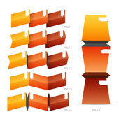 Fold Crease Paper Elements — Stock Vector