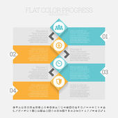 Flat Color Progress Infographic — Stock vektor