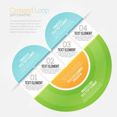 Creased Loop Infographic — Stock Vector
