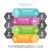 Loopable Hex Infographic — Stock Vector