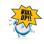 Alarm Clock Talk — Stock Vector