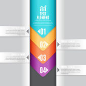 Downward Arrow Infographic — Stock Vector
