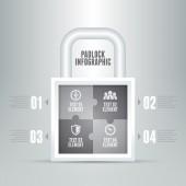 Padlock Infographic — Vecteur