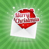 Merry Christmas Envelope — Vector de stock