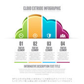 Cloud Extrude Infographic — Stockvektor