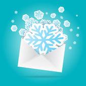 Snowflakes Envelope — Stock Vector