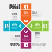 Four Axis Flip Infographic — Stockvector