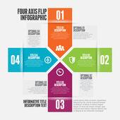 Four Axis Flip Infographic — Stockvektor