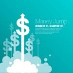 Money Jump — Stock Vector #74594111