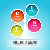 Circle Tree Infographic — Stock Vector