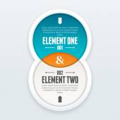 Twin Element Infographic — Stock Vector