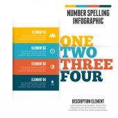 Number Spelling Infographic — Stock Vector