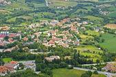 The view from the mountain Titanium, San Marino.  — Stock Photo