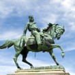 Постер, плакат: Equestrian statue of Giuseppe Garibaldi in Siena