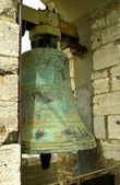 Ancient bronze bell on the tower — Foto de Stock