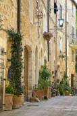 Street in the Italian town of Pienza.  — Foto Stock