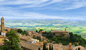 The ancient Italian town of Montalcino — Stock Photo
